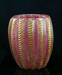 large-Barovier-Toso-Murano-art-glass-Cordonato-d-Oro-gold-inclusions-ca-1950