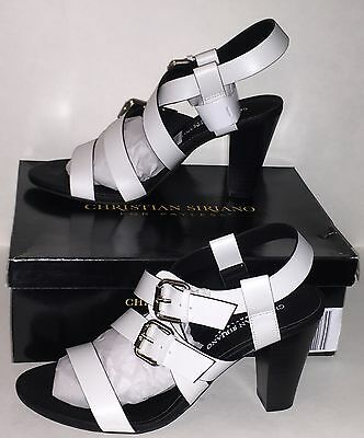 Christian Siriano For Payless Womens  Rex  Strappy Heels White Size 7 New Boxed