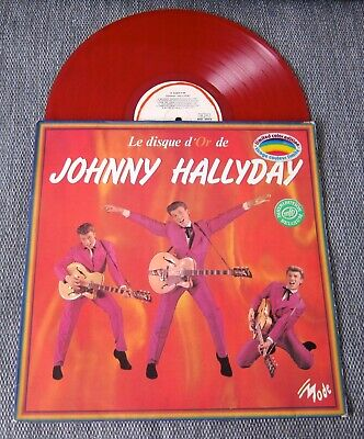 Johnny HALLYDAY 33Tours Le Disque D'Or De Johnny Hallyday vinyle rouge RARE