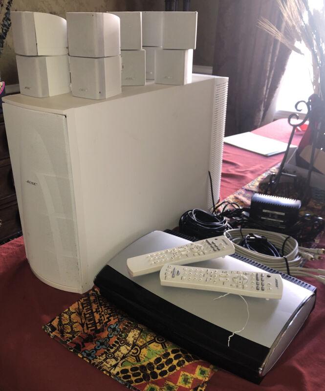 BOSE AV38 Media Center 5 Surround Sound Speakers, PS38 Subwoofer & Remote
