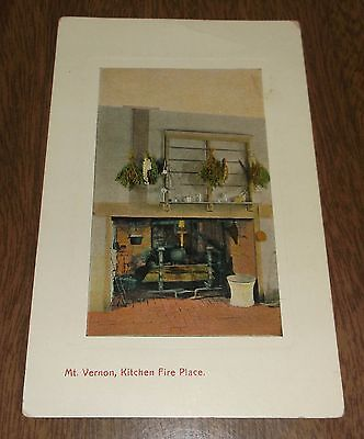 Vintage Postcard - Mt Vernon Kitchen Virginia - Unsent - Leet Bros