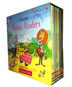 Usborne Phonics Readers 20 books Gift Box Set Collection NEW