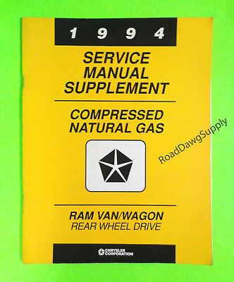 - 1994 Dodge Ram Van Wagon 5.2L Natural Gas CNG Service Repair Manual RWD