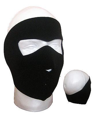 Atanacc Black Neoprene Full Face Mask- Biking,Ski,Cycling,cold / winter weather