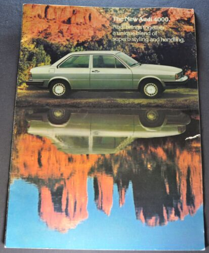 1979-1980 Audi 4000 Large Catalog Sales Brochure Original