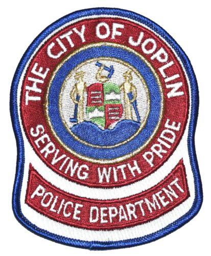 JOPLIN MISSOURI MO Sheriff Police Patch ARM HAMMER RIFLE SHIELD GOLD MYLAR ~