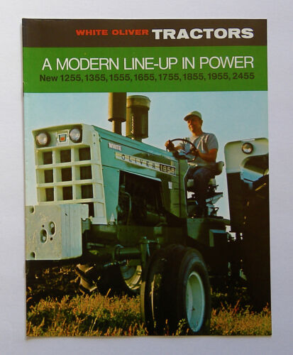 1969 White Oliver 1255 1355 1555 1655 1755 1855 1955 2455 Tractor Brochure