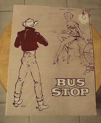 """RARE 1950's SOUVENIR Theatre Play Program~""""BUS STOP""""~William Inge~"""