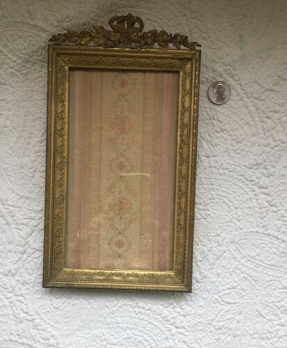 Antique French Gilt Bronze Empire Style Frame Late 1800