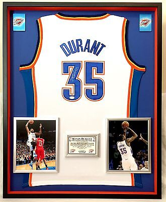 9660fe628d5 Premium Framed Kevin Durant Signed OKC Thunder Authentic Adidas Jersey JSA  Auth.