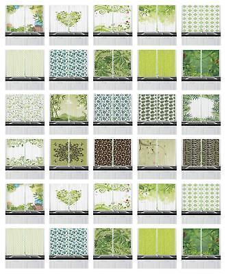 Leaves Kitchen Curtains 2 Panel Set Home Decor Window Drapes