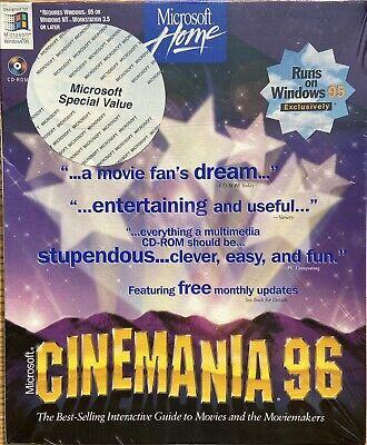Microsoft Cinemania 96 Brand New in Original Packaging- Classic/Vintage Software