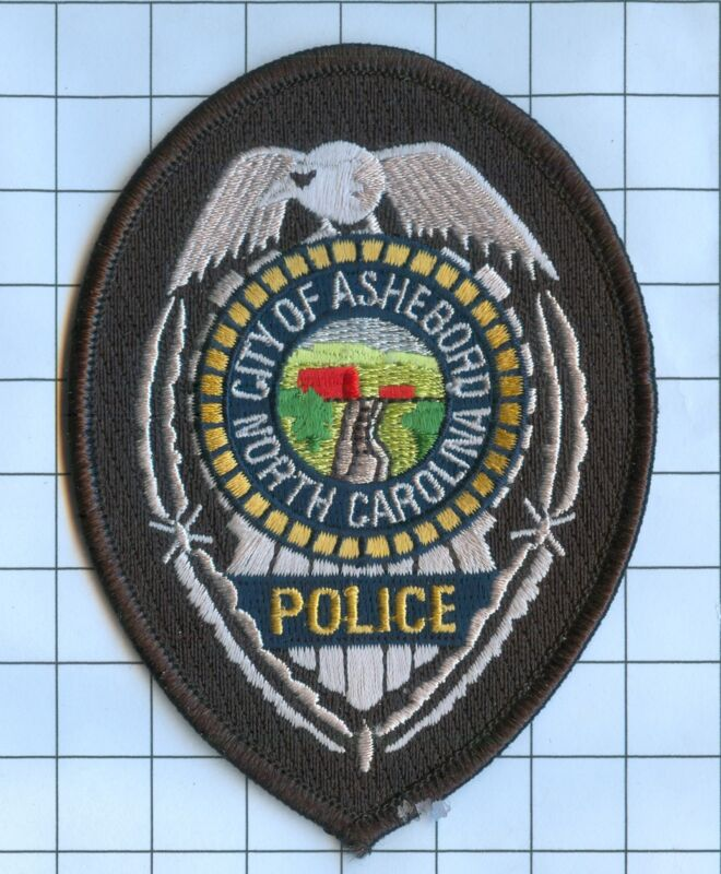 Police Patch Embroidered Mini-Patch  - North Carolina - City of Asheboro