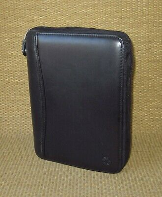 Classic Franklin Covey Black Leather Spacemaker 1.125 Rings Plannerbinder