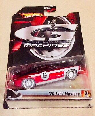 🏁Hot Wheels G-Machines Red & Black '70 Ford Mustang Mach 1 w/RR's 🏁