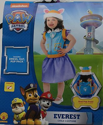 Halloween Paw Patrol Everest Dress Hat Pup Pack Costume Size 2T-3T NWT