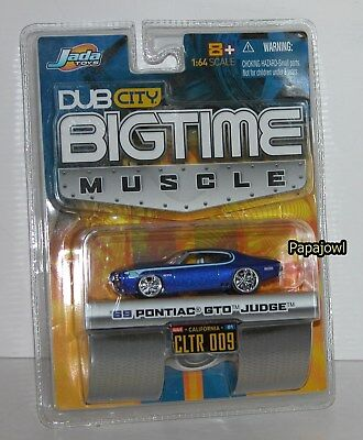 Jada Dub City Bigtime Muscle 1969 Pontiac GTO Judge 69 Goat CLTR 009 1:64 R for sale  Shipping to Canada