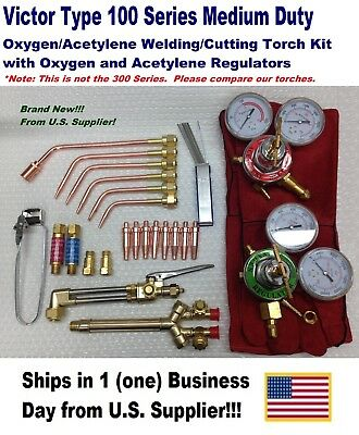 Victor Type 100fc Cuttingwelding Torch Kit With Tips Regulators More