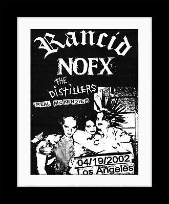 RANCID Nofx L.A. Advert PUNK Vintage style Framed Poster Print MADE IN UK