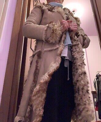 cappotto montone Dolce e Gabbana beige con bottoni a clip originale anni 90