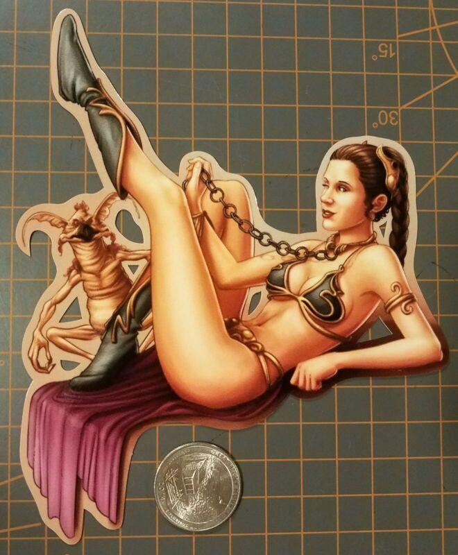 Star Wars Slave Leia Sticker Sexy V2
