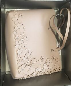 Faux leather tote rose bag