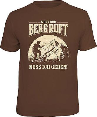 Bergsteigen - Wenn der Berg ruft - T-Shirt - Größe S M L XL XXL
