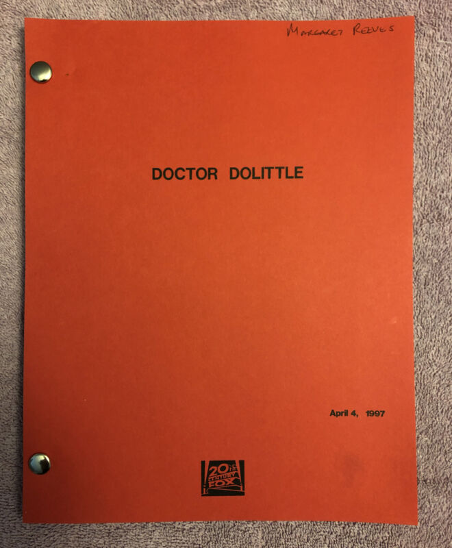 MOVIE SCRIPT - DOCTOR DOOLITTLE - SHOOTING DRAFT (1997) -  ACADEMY AWARD REVIEW