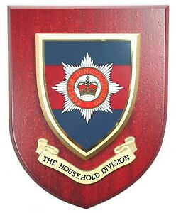 HOUSEHOLD DIVISION CLASSIC HAND MADE  REGIMENTAL MESS PLAQUE