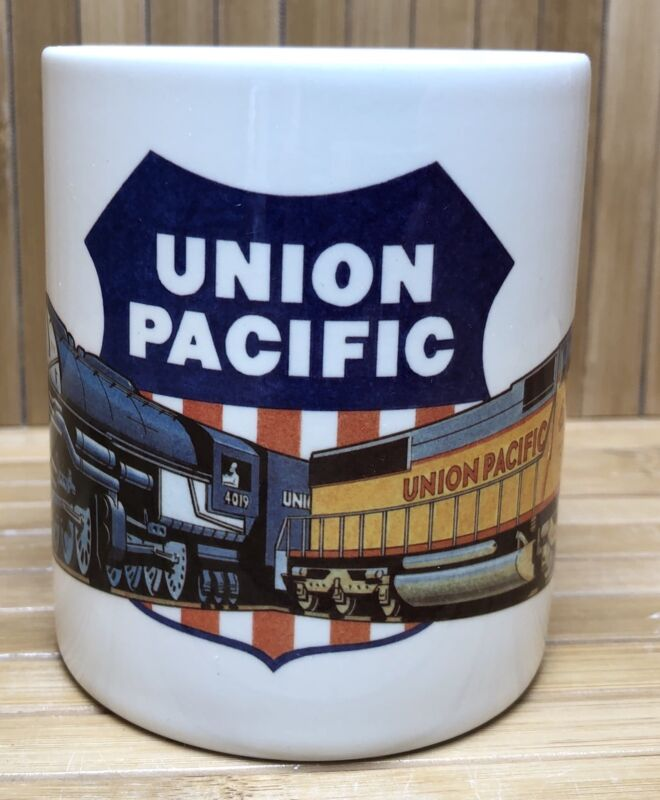UPRR Union Pacific Railroad Shield Steam Engine X4019 6178 Coffee Mug