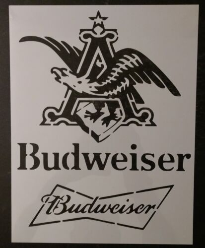 """Bud Budweiser King of Beers Beer 8.5"""" x 11"""" Custom Stencil FAST FREE SHIPPING"""