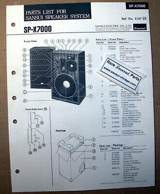 Original Paper Part List for Sansui Speakers SP-X7000 ! segunda mano  Embacar hacia Argentina