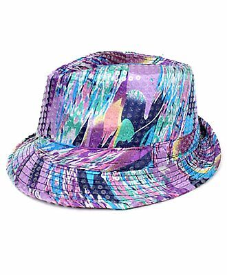 Multi Color Spring Sequin Fedora Hat - Sequin Fedora