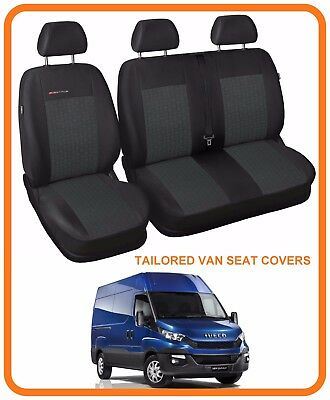 IVECO DAILY WATERPROOF TAILORED FRONT SEAT COVERS SINGLE 235 DOUBLE 2014 ON