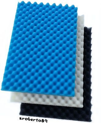 "1 x Set Kockney Koi Foam / Sponge 11"" x 17"" Fish Pond Filter"