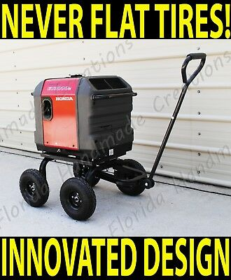Wagon Style All Terrain Wheel Kit For Honda Generator Eu3000is Never Flat Tires