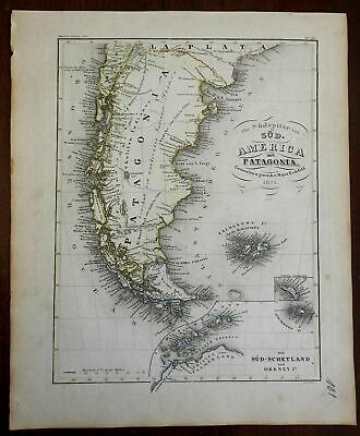 Mountains Ranges of South America Patagonia Chile Argentina 1851 Meyer map