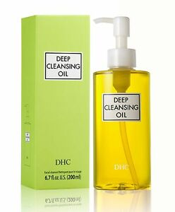 DHC Deep Cleansing Oil Large 6.7 fl.oz. 200ml, 4 Free Samples Included
