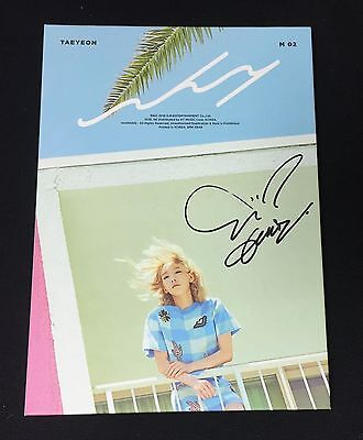 "TAEYEON (SNSD) autographed ""WHY"" 2nd Mini Album signed PROMO CD"