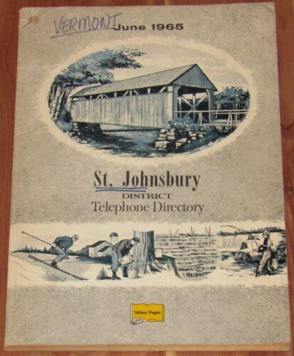 1964 VERMONT TELEPHONE DIRECTORY, ST. JOHNSBURY DISTRICT