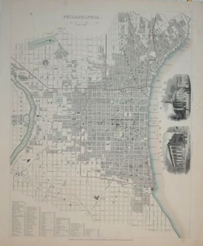 A PLAN OF PHILADELPHIA  FOR THE SDUK, PUBLISHED 1840.