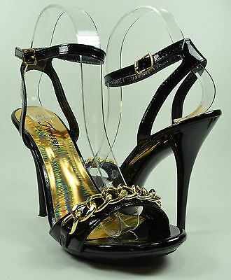 Women High Heels Ankle Strap Style Sexy Gold Chain Fashion Design (Fashion Designer High Heels)