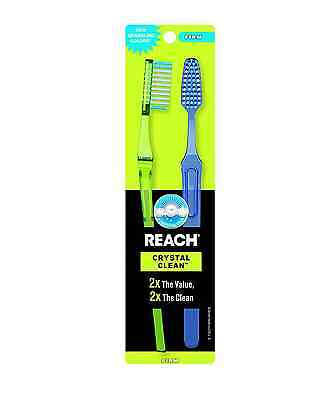Reach Crystal Clean Firm Value Pack Adult Toothbrushes, 2 ea