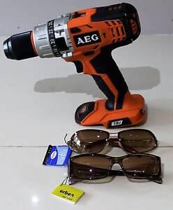AEG Drill / Driver 18V Lithium Ion + 2 x Glasses  (Will Post) Armidale City Preview