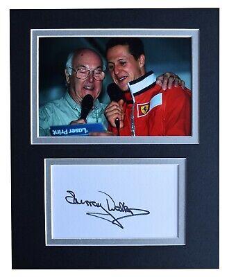 Murray Walker Signed Autograph 10x8 photo display Formula1 Sport AFTAL COA