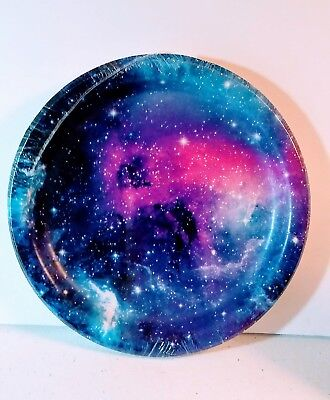 GALAXY Celestial Space Print Paper Plates Birthday Party Supplies Decor - 8 ct