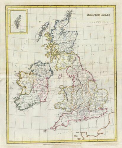 1823 Manuscript Map of the British Isles