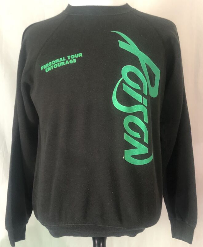 Poison 1988-89 Open Up And Say Ahh Tour Crew Sweatshirt Size Large