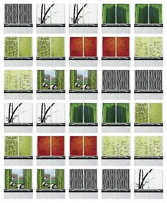 Bamboo Kitchen Curtains 2 Panel Set Window Drapes 55