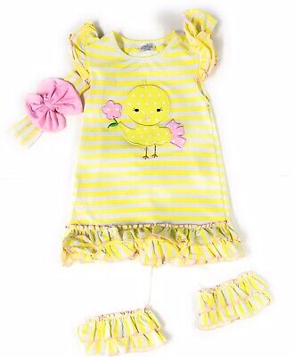 SALE! Easter Chick Infant Baby Yellow Toddler Girl Boutique Outfit Clothing Kids